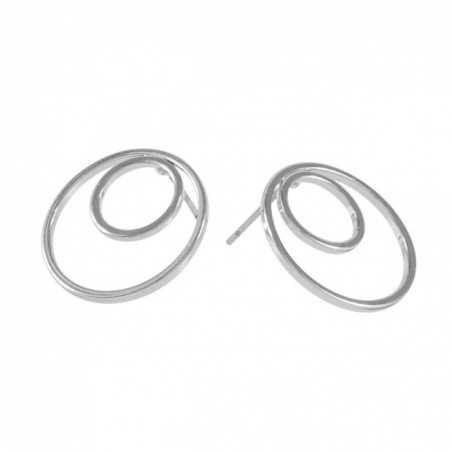 SNÖ OF SWEDEN MINE RING DOUBLE EAR PLAIN S