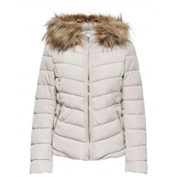 ONLY ELLAN QUILTED FUR JACKET, ONLY, Dam
