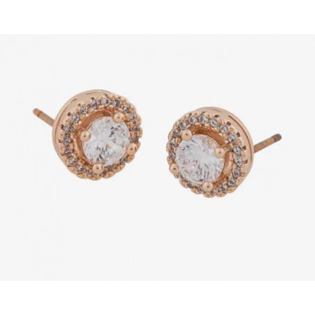 SNÖ OF SWEDEN LOU ROUND STONE EAR ROSÉ/CLEAR