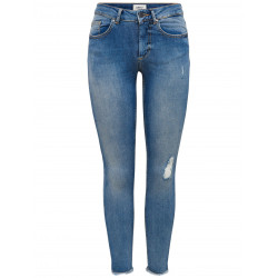 ONLY BLUSH MID ANKLE RAW JEANS, VILA, Dam