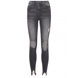 NOISY MAY LEXI HW DESTROYED SKINNY FIT JEANS, NOISY MAY, Dam