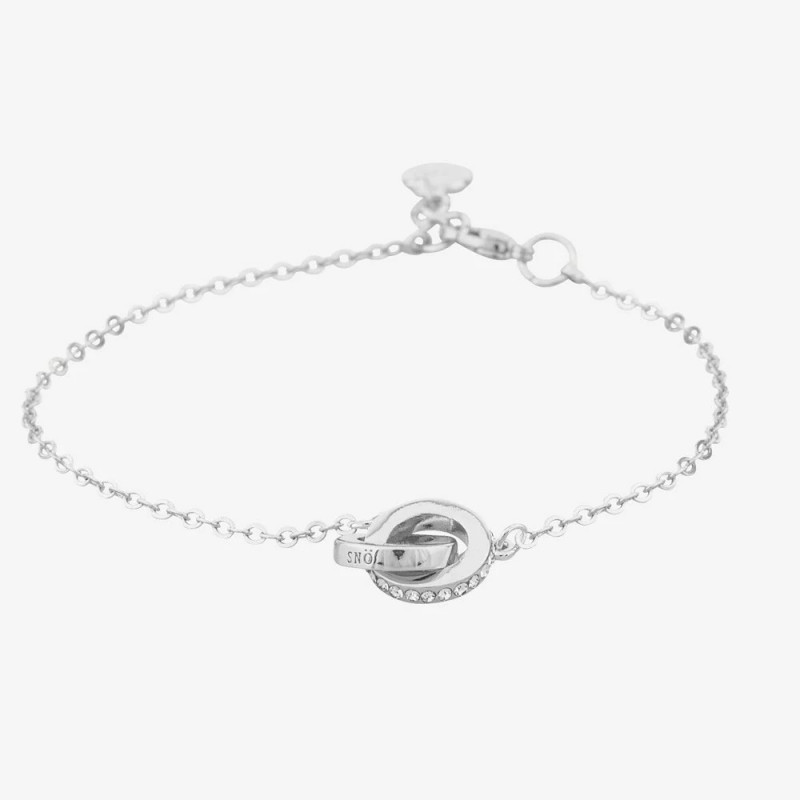 SNÖ OF SWEDEN CONNECTED CHAIN BRACELET SILVER