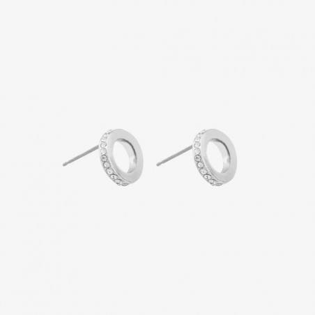 SNÖ OF SWEDEN CONNECTED EARRINGS SILVER