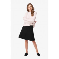 BOOMERANG INTERLOCK SKIRT MUNTE BLACK, BOOMERANG, Dam