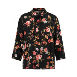 GARCIA ALLOVER PRINTED BLOUSE WITH 3/4 SLEEVES, GARCIA, Dam