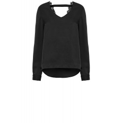 CAPRI GRACIE BLOUSE BLACK, CAPRI COLLECTION, Dam