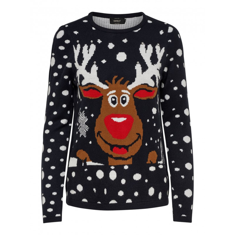 ONLY X-MAS BELL REINDEER PULLOVER, ONLY, Dam