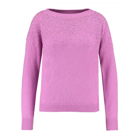 GARCIA PINK SWEATER WITH EMBELLISHMENT