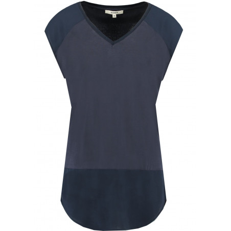 GARCIA DARK BLUE T-SHIRT WITH V-NECK