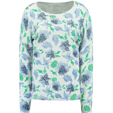 GARCIA GREY SWEATER WITH FLORAL PRINT