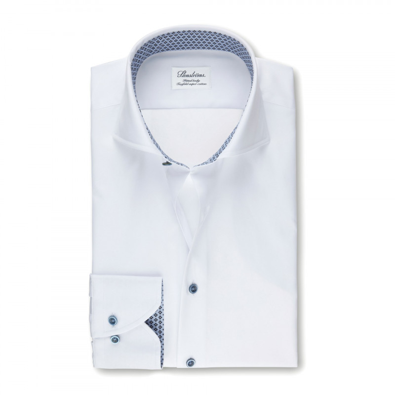 STENSTRÖMS WHITE FITTED BODY SHIRT 556193842b28a