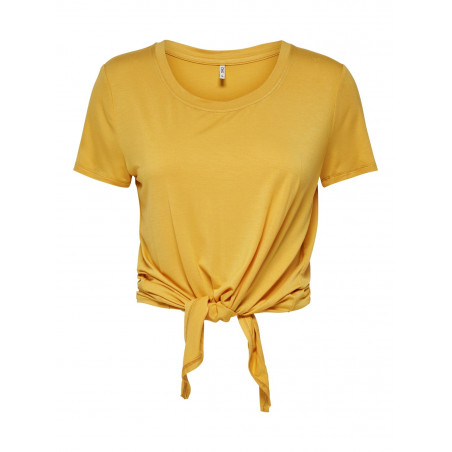 ONLY ARLI S/S KNOT TOP JRS NOOS - YOLK YELLOW