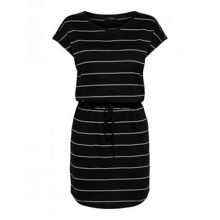ONLY MAY S/S DRESS NOOS - BLACK