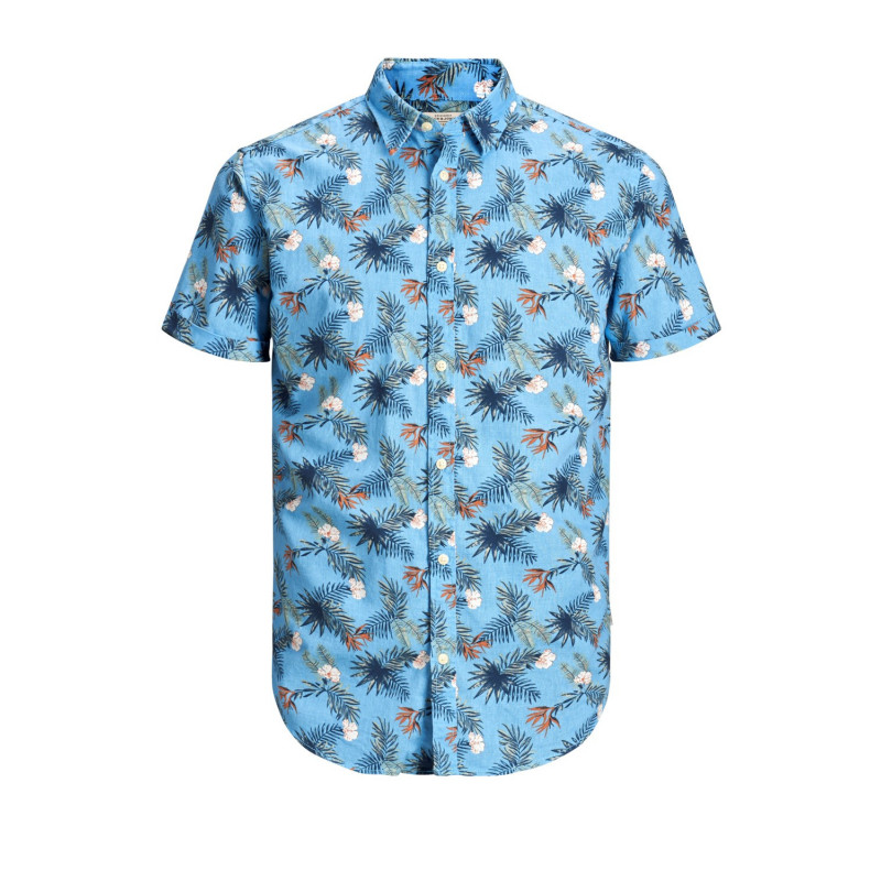 JACK & JONES RICK SHIRT SS ORG - BONNIE BLUE, JACK & JONES, Herr