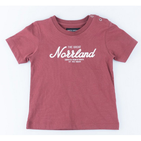 SQRTN GREAT NORRLAND KIDS T-SHIRT MAROON