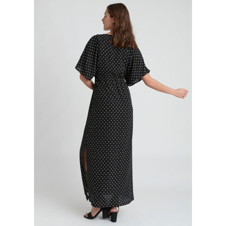 DRY LAKE VALENTINA LONG DRESS - BLACK DROP PRINT, DRY LAKE, Dam