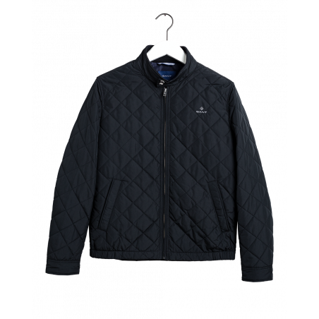 GANT D1. THE QUILTED WINDCHEATER BLACK